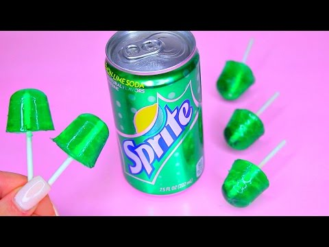 How to Make Sprite Gummy Lollipops!