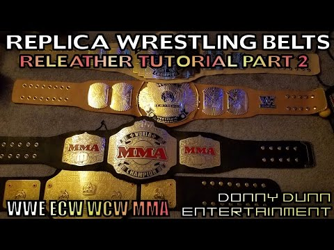 Re-Leather Replica Wrestling Belts Tutorial - Part 2