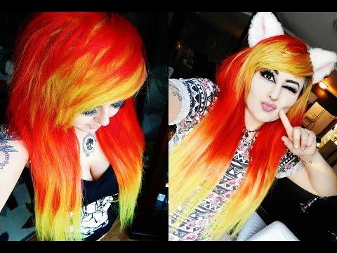 FIRE HAIR! + VP FASHION HAIR EXTENSIONS | Dying hair red, orange, & yellow