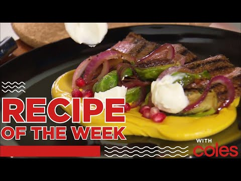 Lamb Backstrap with Pumpkin Hummus | Recipe Of The Week Brought To You By Coles | MKR Always Open