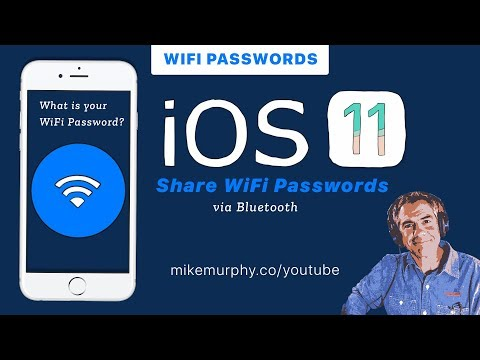 iOS 11: Share Wifi Passwords