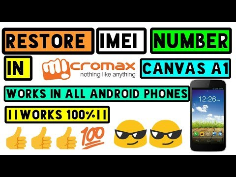 Restore a Deleted IMEI number in  Canvas A1 AQ4502 ||This method works on all Android phones||