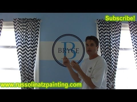 DIY Nursery Painting - Accent Wall & Horizontal Stripes (Part 10)