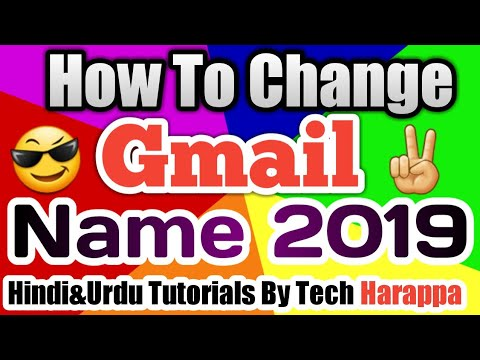 how to change g mail name
