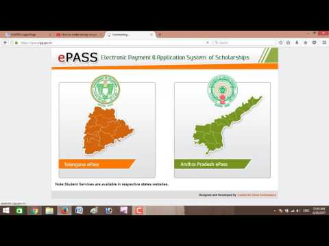 epass scholarship status in telugu