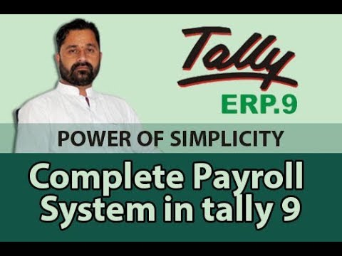 complete payroll system in tally erp 9 step by step