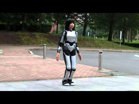 Amazingly real robot Walking Outside!
