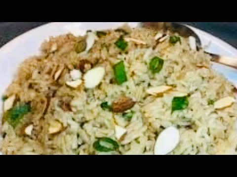 RICE PILAF WITH ALMOND NUTS recipe