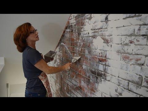 German Smear /Schmear Brick Plastered Wall Tutorial