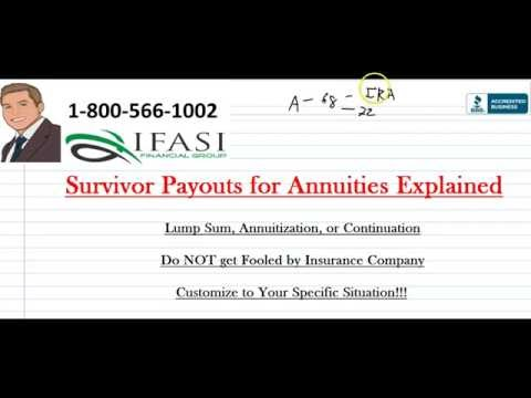 Survivor Payouts - Annuity Survivor Payouts Review
