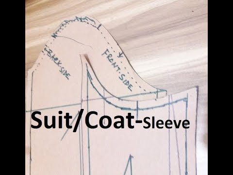 HOW TO MAKE SUIT SLEEVE – HOW TO COAT SLEEVE MAKE - Coat Sleeve Cutting - TAILORED SLEEVE PATTERN