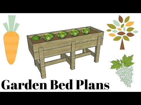 Waist high raised garden bed plans free