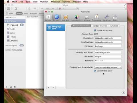 How to change your SMTP server password - Mac Mail 7.3