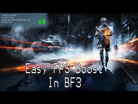 Battlefield 3 FPS boost (from 25 FPS to 70FPS) (+High Ping FIX) *PC*