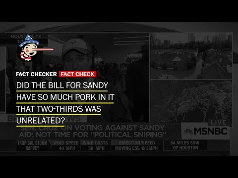 Fact Check: Did two-thirds of the Hurricane Sandy bill 'have nothing to do with Sandy?'