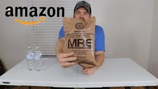 Whats Inside Of A Military MRE from AMAZON?