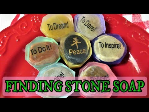 DIY HOW TO MAKE FINDING STONE FACETED SOAP