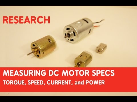 How to measure DC motor specs: torque, speed, current, and power