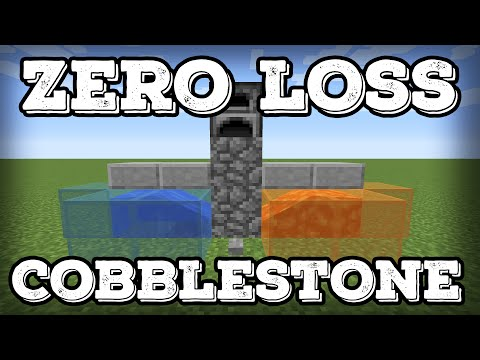 Minecraft Tutorial - Zero Loss Cobblestone Generator