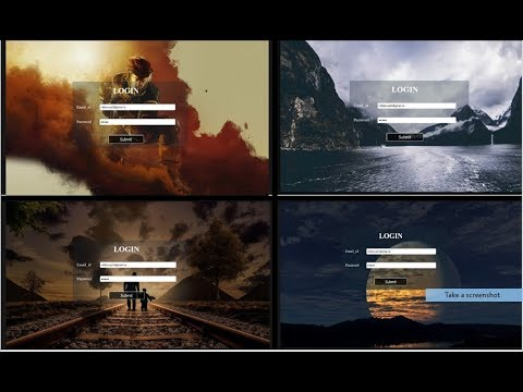 How to Create a  Login and Signup Page Using HTML and CSS with Source Code