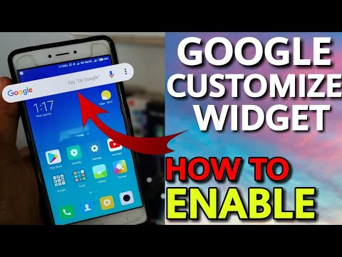 GET GOOGLE SEARCH BAR WIDGET CUSTOMIZE OPTION || LIKE ANDROID DEVICES