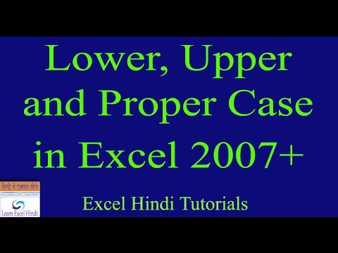 Learn Excel Hindi How to set Lower, Upper and Proper Case Excel in Hindi 33