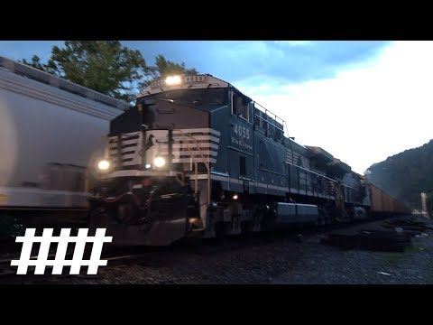 NS Trains at CP Cannon PT 118.9 with Sherman Creek Stone Arch Bridge in Duncannon, PA