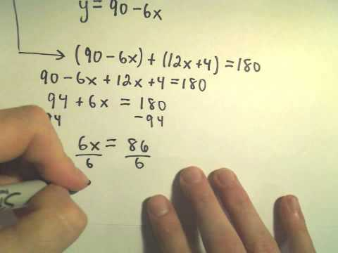 Complementary and Supplementary Angles - Example 2