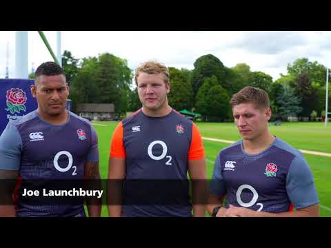 England Rugby players and young people