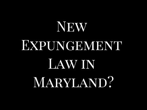 New Expungement Law in Maryland | October 2017