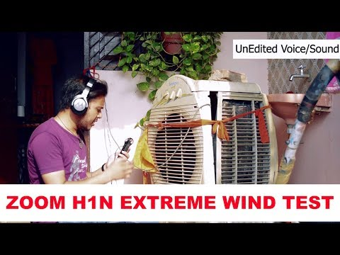 Zoom H1n Wind Test Hindi | DIY Windshield Wind Test With Exhaust Fan | Technical Vids