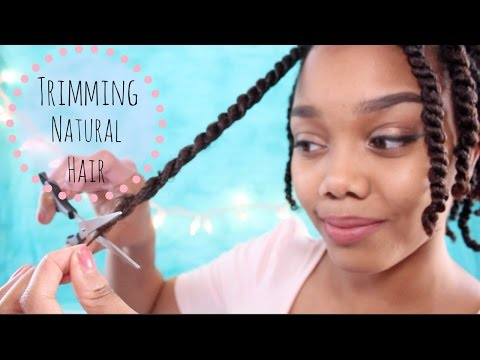 TRIMMING NATURAL HAIR | HOW I TRIM MY ENDS