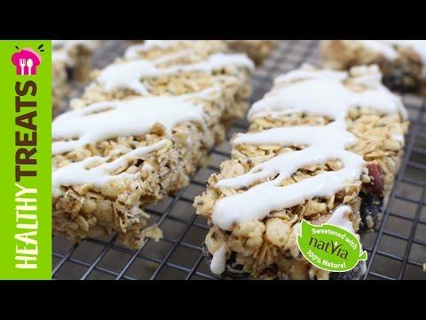 Sugar Free Blueberry Granola Bar Recipe - Natvia's Healthy Treats