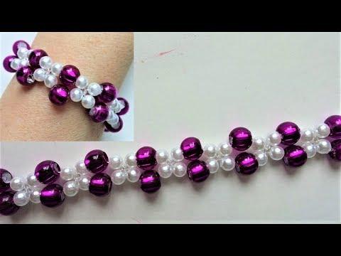 Fancy pony beads bracelet. Easy beading for beginners