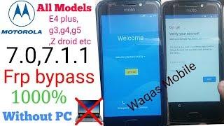 Moto XT-1663 Frp Unlock,Google Account Remove [100% Work]