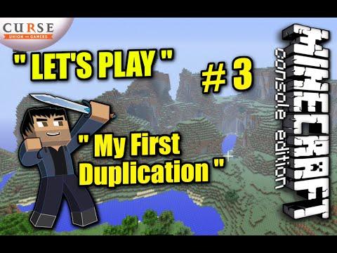 Minecraft PS4 - DUPLICATION + MINING FAIL - Survival