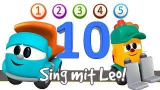 LEO der Lastwagen🚘Zahlen lernen mit Leos Lied🎵#LeoJunior auf Deutsch 💙Zeichentrickfilm für Kinder