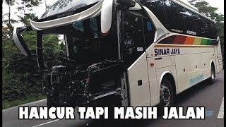 Heboh!! BUS Sinar Jaya Sudah Hancur Masih Tetap Bisa Jalan, Sungguh Menakjubkan