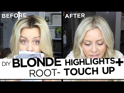 DIY Blonde Highlights And Root Touch Up Tutorial - My Updated Hair Routine