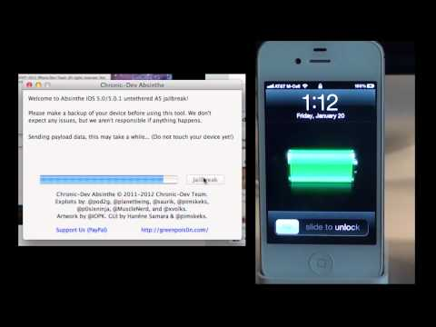 How To Jailbreak (Untethered) iPhone 4S & iPad 2 iOS 5.0 and 5.0.1 using Absinthe