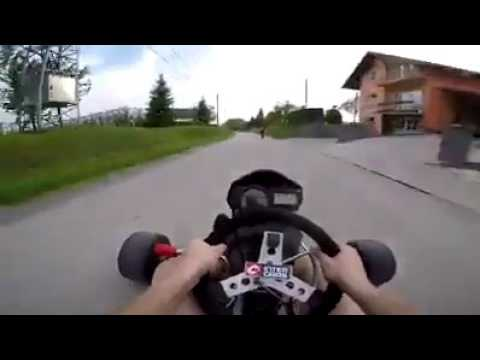 Go Kart with motorcycle engine