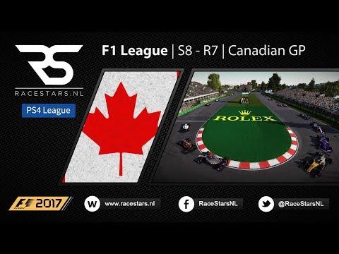 PS4 | F1 2017 | F1 League | S8 - R7 Canada | RaceStars.NL