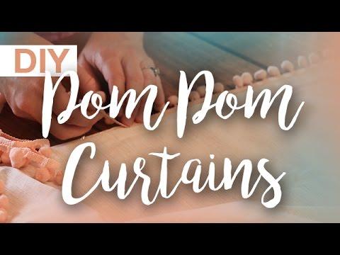 DIY Pom Pom Curtains | ArtsyPaints