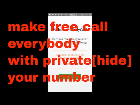 private your number during any call||with free call[new in english]