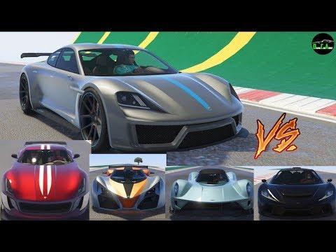 GTA 5 - Top Speed Drag Race (Pfister Neon vs.Cyclone, X80, 811, 900R, Voltic, T20, etc.)