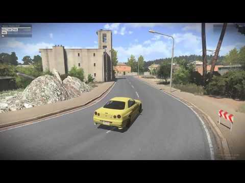 Arma 3- Taunus Drive Around In A Nissan Skyline