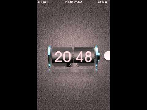 Custom Flip clock lockscreen on iPhone