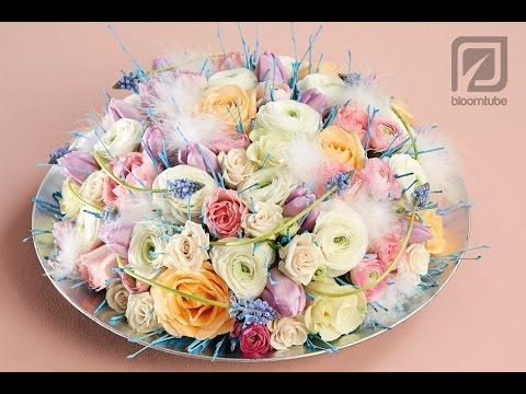 Flower arrangement. Table decoration how to make tutorial.