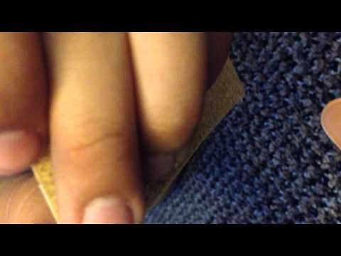 How to make fingerboard or tech deck grip tape