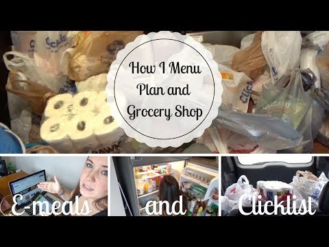EASIEST menu planning and grocery shopping EVER   Emeals & Clicklist